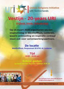 "Vrijheid, Vrede, Vriendschap ""20-years"" URI Vestijn' URI Nederland @ Westhoffhuis"